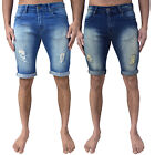 Mens Loyalty & Faith Denim Shorts Skinny Slim Fit Ripped Stretch Turn Up Stylish