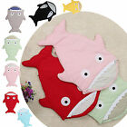 Baby Newborn Shark Sleeping Bag Sack Swaddle Wrap Blanket Stroller Bedding Quilt