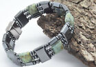 Men's Women's Magnetic Hematite Bracelet Necklace African Green  Jasper Stones