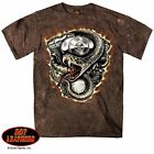 ZigZags AMERICAN MotorCycle TShirt Motor/Snake (Rattler) 2nd Amendment Backprint