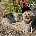 Tobs Grey Wicker Dog Bed Basket Very Strong