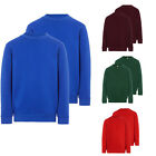 BRAND NEW BOYS GIRLS UNISEX JUMPERS SWEATSHIRT CREW ROUND NECK SCHOOL UNIFORM