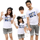 New summer cotton family T shirts + Pants sets Victory sports Family Outfits