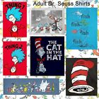 CHOOSE FROM Adult Book Dr. Seuss The Cat in the Hat Thing 1 / 2 or Fish T-Shirts
