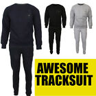 Mens Tracksuit Fleece Jogging SweatPants drawstring Top Bottom full suits Jogger