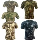 Quick-drying Wicking Camo Tight Men's T-Shirts Army/Military/Hunting/Fishing