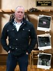 TRADITIONAL VINTAGE STYLE WAX COTTON MOTORCYCLE MOTORBIKE JACKET MADE IN UK - T
