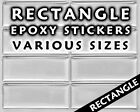 Rectangle Epoxy Stickers - Square Resin Domes -  Dots - Free Shipping
