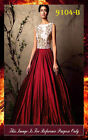 Bollywood Inspired - Party Wear Maroon& White Gown - 9104-B