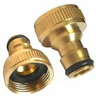 2XBrass Hose Tap Connector 3/4