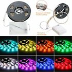 50-200cm 4.5V 5050 RGB Waterproof LED Flexible Strip Light Battery Powered Party