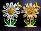 Vintage Retro MOD FLOWER POWER Daisy Petals Bumble Bee Metal EARRING Holder