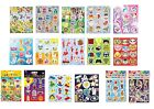 5 x Themed Sticker Sheets Kids Birthday Party Loot Bag Fillers Favours Prizes