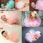 Внешний вид - Cute Toddler Newborn Baby Girl Tutu Skirt & Headband Photo Prop Costume Outfit