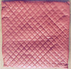 CREASE SOFT LEATHER DIAMOND QUILTED RED CUSHION