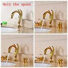 Luxury Gold Brass Polished Basin Faucet  Bath Vanity Sink Tap Double Levers