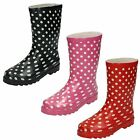Girls Spot On Casual Wellington with Polka Dots X1118