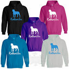 ROTTWEILER ROTTIE ROTTY dog KIDS SIZE`S ADULT SIZE`S HOODIE