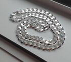 10.5 MM 925 STERLING SILVER MEN'S/WOMEN'S CUBAN LINK CHAIN NECKLACE 16-36""