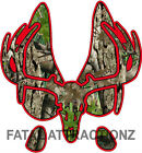 Red Camo Deer Print Skull S9 Vinyl Sticker Decal Buck bow hunting whitetail