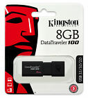 16GB 32GB 64GB - USB 3.0 Kingston DT100 G3 Flash Memory Pen Drive Stick Lot