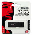 Kingston 16GB 32GB 64GB USB 3.0 DT100 G3 Flash Memory Pen Drive Stick Lot