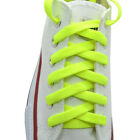 """Flat Shoelace 8 mm """"Neon Green"""" Athletic Sneakers 27"""",36"""",45"""",54"""",63"""""""