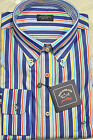 PAUL & SHARK HEMD SHIRT BOTTON DOWN P14P1394 COL. 018 LINES REGULAR FIT