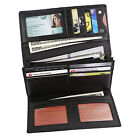 FancyStyle Womens RFID Wallet Trifold Long Genuine Leather Clutch Purse Black