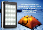 Dual USB 100000mAh Solar Charger 20 LED Camp Light Battery Power Bank for Phone