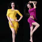 2016 Women's Belly Dancing Costumes Outfit  2Pcs  Shoulder off Top+Fringes Skirt