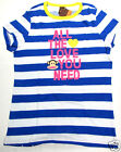 Paul Frank T Shirt White Blue Stripe Love Ahoy 100% Cotton Paul Frank