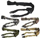 2 Two Point Tactical Sling Rifle Gun Strap Adjustable Bungee Quick Detach Buckle