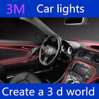 LED CAR Interior Wire Rope Flexible Dash Ambient Footwell Strip Light Lightiing