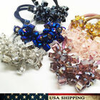 New Crystal Beads Elastic Hair Accessories Band Ring Rope Ponytail Holder