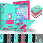 Shockproof Heavy Duty Rubber Hard Kickstand Case Cover For iPad Mini 1 2 3 4