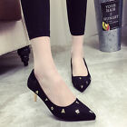 Fashion letter Women Girl's shoes Kitten heels pointed toe Pumps shoes Free ship