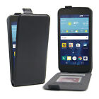 Vertical Magnetic Lock Flip Up-Down Open Leather Cover Skin Case For LG Phones