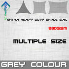 Outdoor Sun Shade Sail - Grey Triangle Square Rectangle Canopy 280gsm