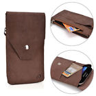 Universal Full-grain Genuine Leather Phone Wallet Case Pouch GMENMO10|ECE