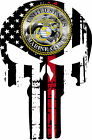 Thin Red Line Punisher Decal - Firefighter US Marine Corp Punisher-Various Sizes