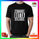 Straight Outta Silage Premium T-shirt Tee Funny Agri Agriculture Farm Tractor