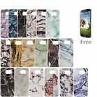 New PC Marble Stone Painted Pattern Cover Case For Samsung Galaxy S6 S7 &Edge A9
