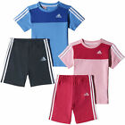 adidas 3 Stripe Infant Kids Summer T-Shirt/Short Set