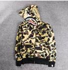 2016 Men's Japan version Shark Jaw Jacket A Bathing Ape Hoodie Bape Coat FullZIP