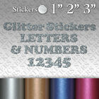 Glitter Custom Vinyl Stickers Letters & Numbers Adhesive Labels Decals Craft