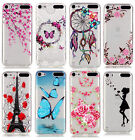 For iPod Touch 5th & 6th Gen -TPU Gummy Rubber Transparent Clear Case Cover Skin