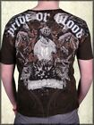 Monarchy Knights Horses Lion Medieval Shield Script Mens T-Shirt Brown NEW S