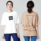 """2NEFIT"" Korea Women Clothes Fashion T004 Short Sleeve Don`t look black T Shirts"