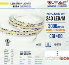 STRISCIA LED 1200LED V-Tac SMD Bobina 5mt Strip 2835 ALTA LUMINOSITA' IP20 NEW